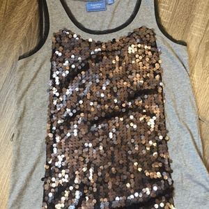 Simply Vera Wang Tank Top With Sequins Front